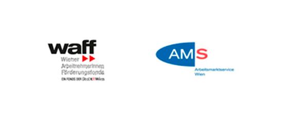 Logos WAFF und AMS