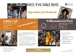 Flyer SPIDI Online-Deutschkurse